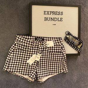 Express Bundle - Shorts (Size 4) & Sunglasses